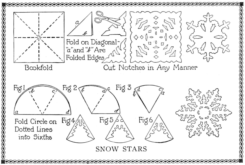 Как сделать снежинку схема картинки